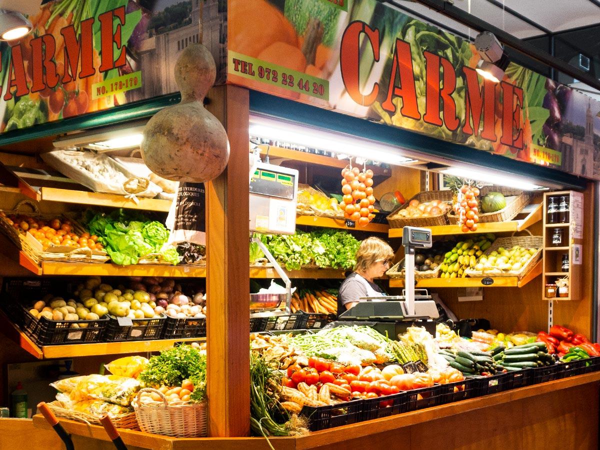Fruites i verdures Carme - Mercat del Lleó de Girona