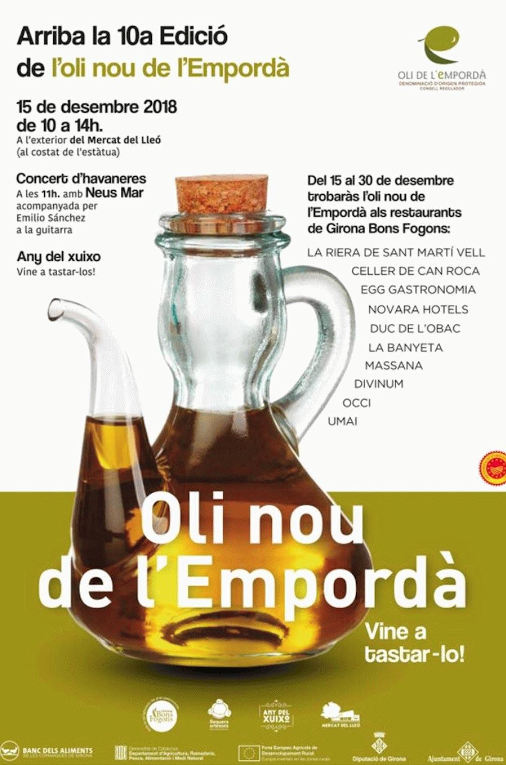 Arriba la 10ena edició de l'oli nou de l'Empordà