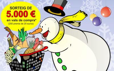 Aquest Nadal sortegem 5.000€ en vals de compra